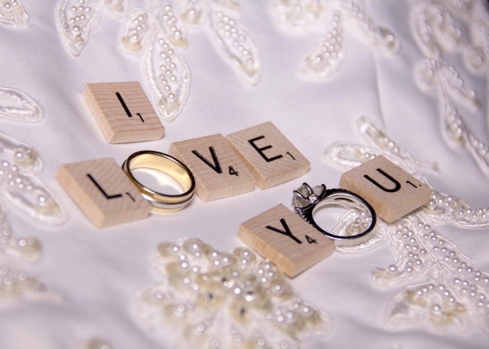 I Love You Wedding Rings