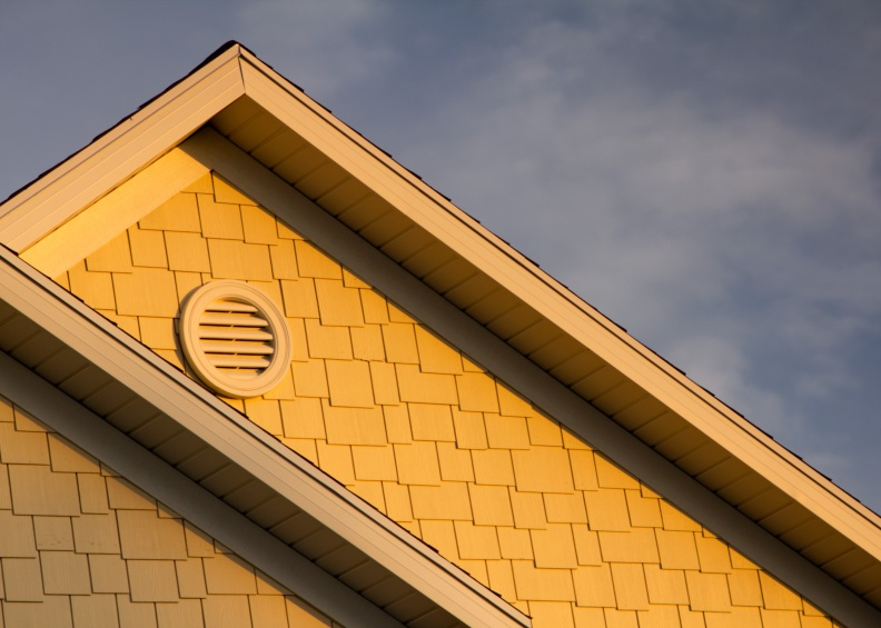 photo golden hour lighting house roof
