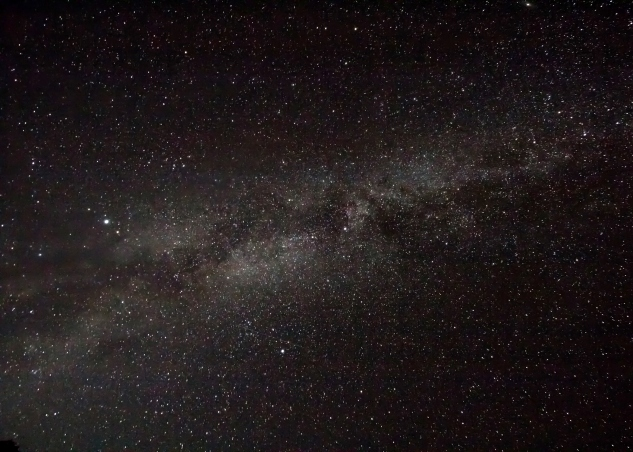 Overhead photo of the Milky Way