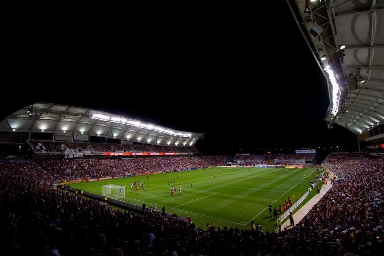 wide angle camera lens ReAl Salt Lake soccer match