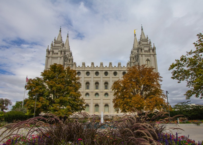 Salt Lake Temple Photo Autumn Colors