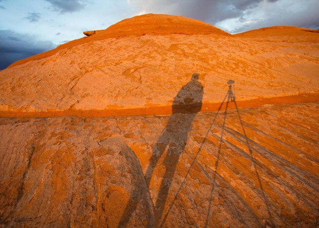 Self portrait photo shadow