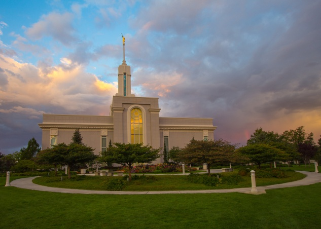 photo mount timpanogos temple sunrise