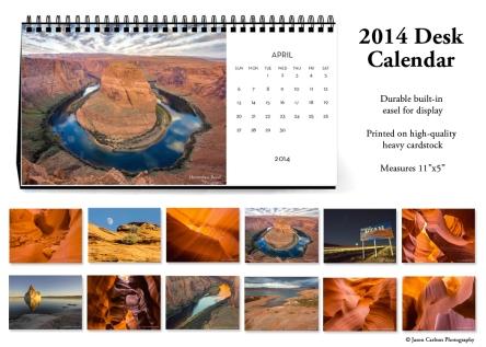 photo 2014 desk calendar preview promo