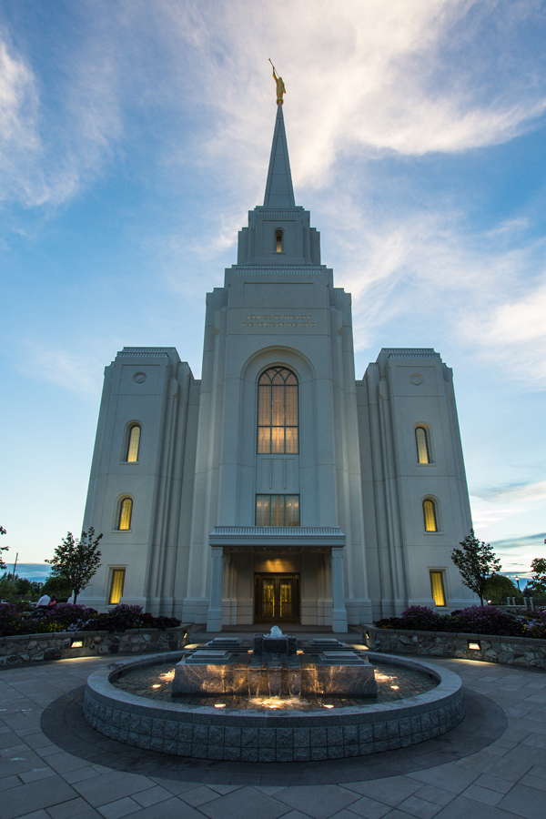 Photo Brigham City Utah Temple sunset