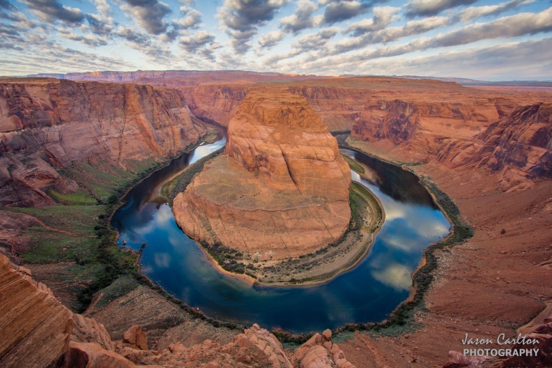 Photo Horseshoe Bend sunrise clouds