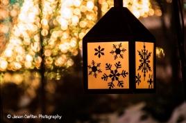 photograph snowflake lantern light christmas bokeh