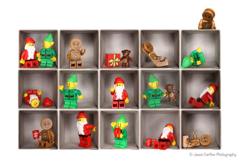 photograph Lego minifigure holiday photo shoot