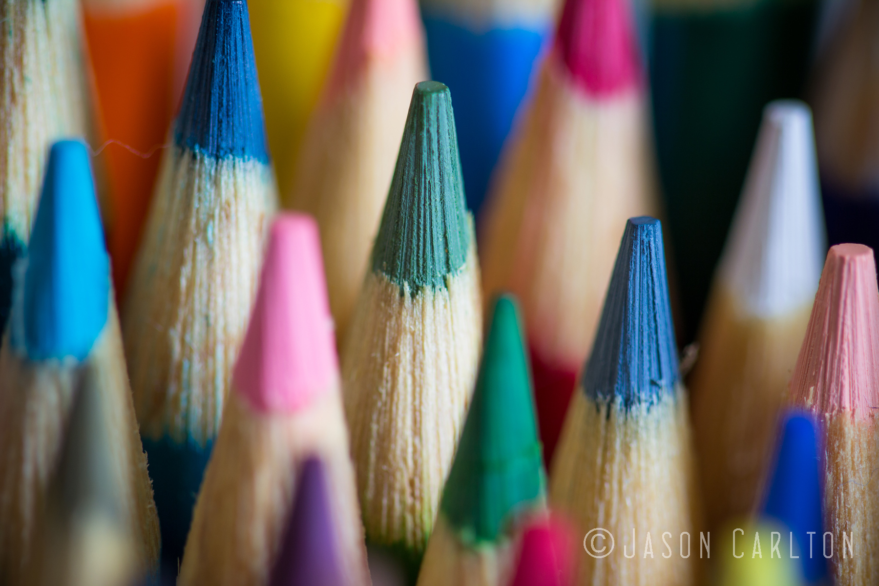 Photo Of Colored Pencils Using Depth Of Field Carltonaut