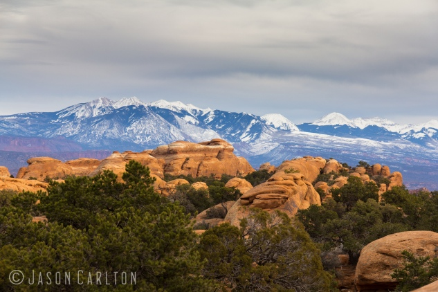 photo La Sal Mountains Arches National Park