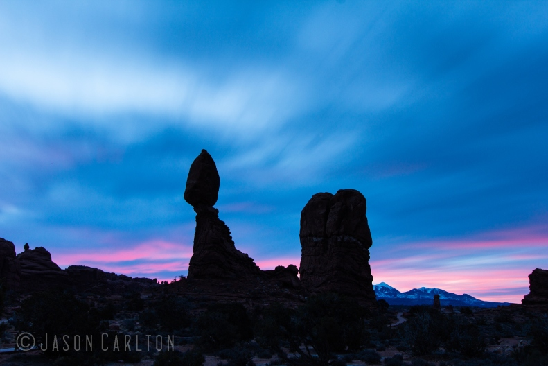 Balanced Rock Arches National Park sunset photo