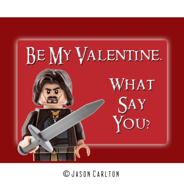 Photo Lego Eragon Valentine card
