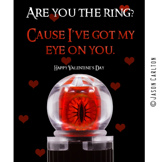 Lego Lord of the Rings Eye Valentines Card