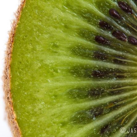 photo cut kiwi fruit center layers