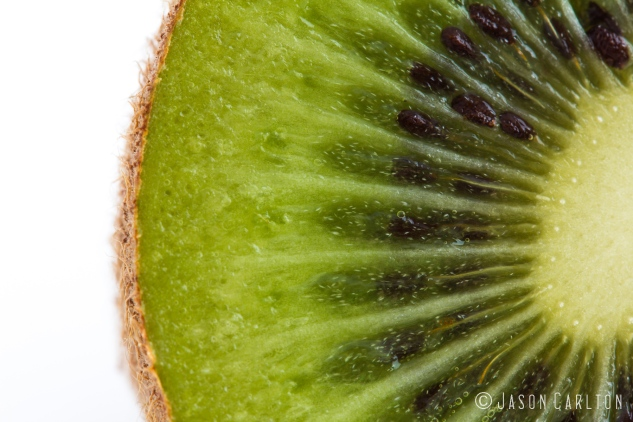 photo cut kiwi fruit center layers