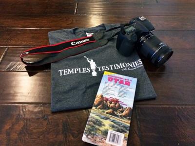 Temples Testimonies Utah map Canon camera t-shirt